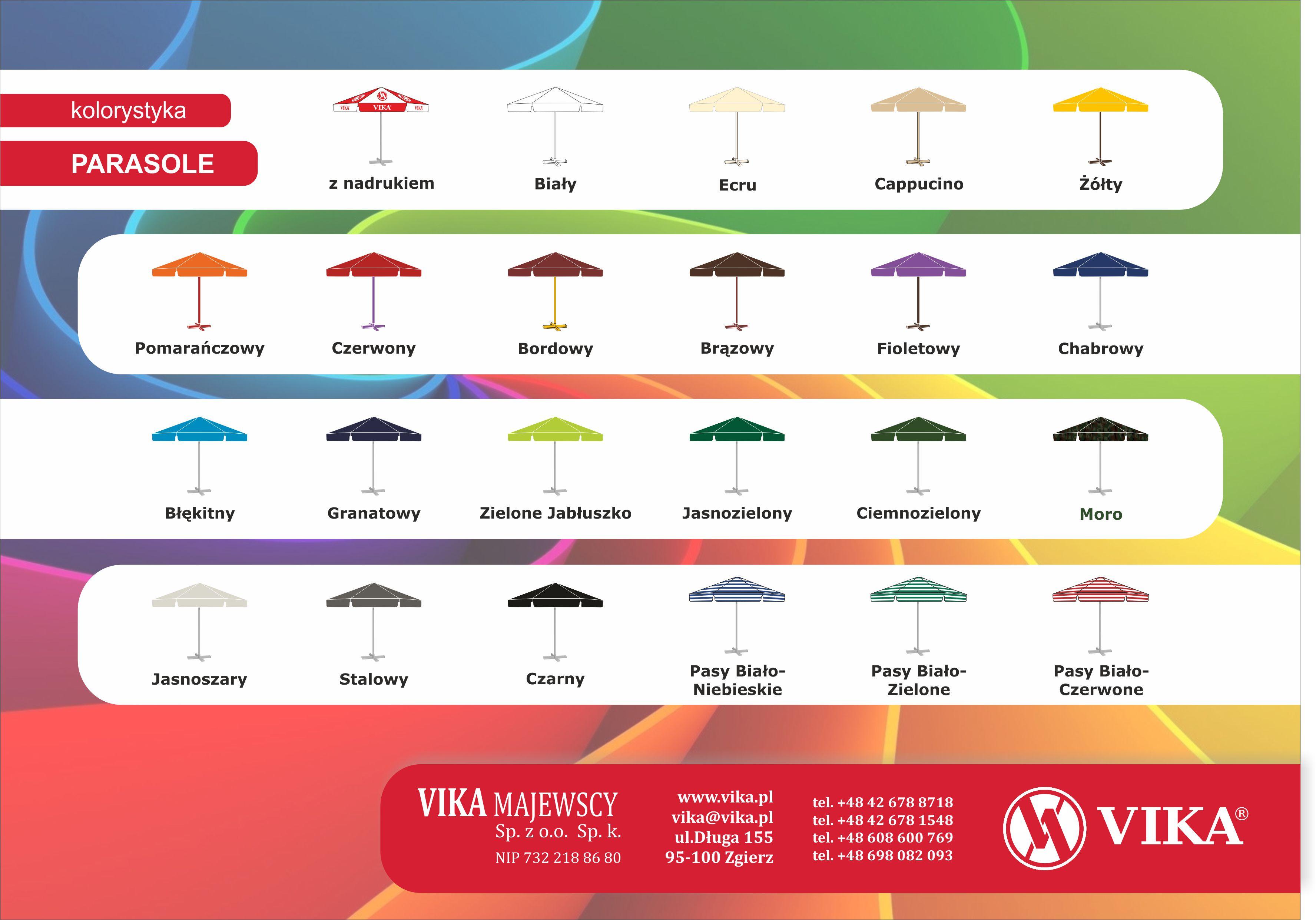 Kolorystyka parasoli do ogrodu